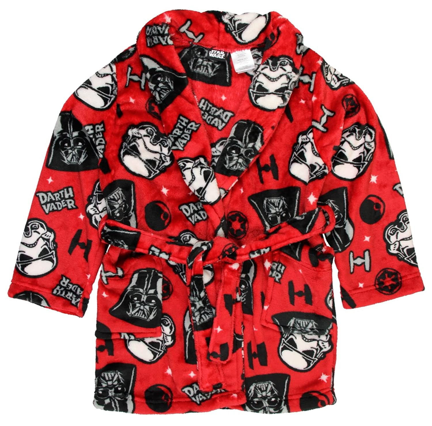 Star Wars Boys Bath Robe Darth Vader Stormtroopers Red