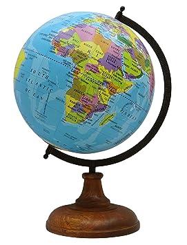 Decorativo Mundo Océano Planeta Tierra Grande Que Gira La Geografía Mesa De Escritorio Décor
