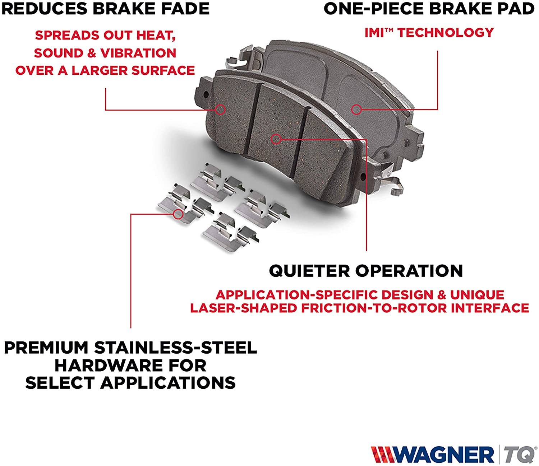 Wagner ThermoQuiet QC1836 Ceramic Disc Brake Pad Set