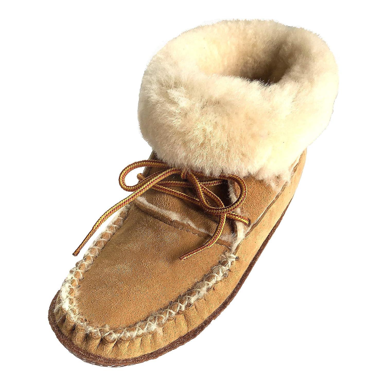 6d78327796501 Amazon.com | Bastien Industries Women's Sheepskin Ankle Moccasin ...