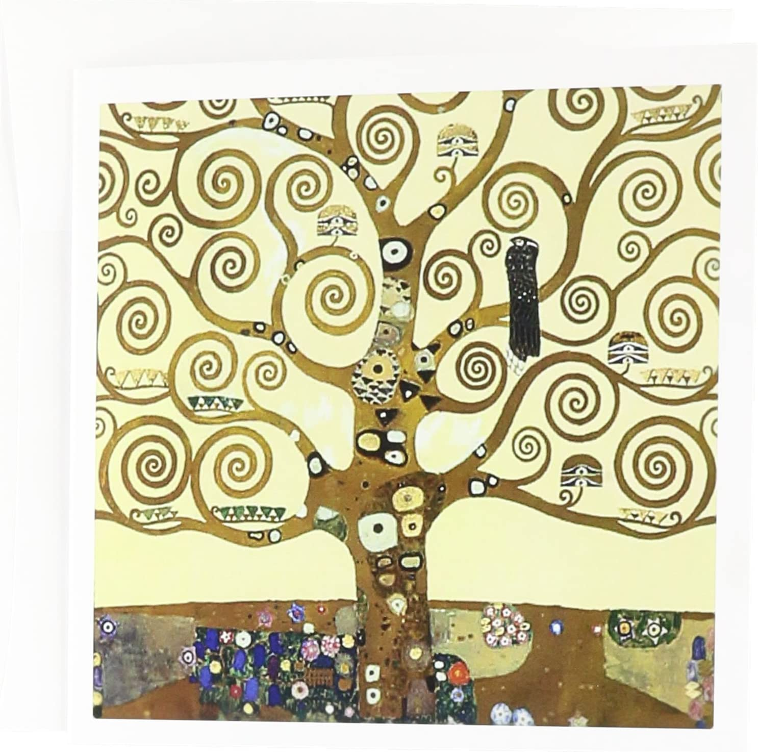 The Tree of Life 1909 by Gustav Klimt - fine art deco - Greeting Cards, 6 x 6 inches, set of 12 (gc_155632_2)