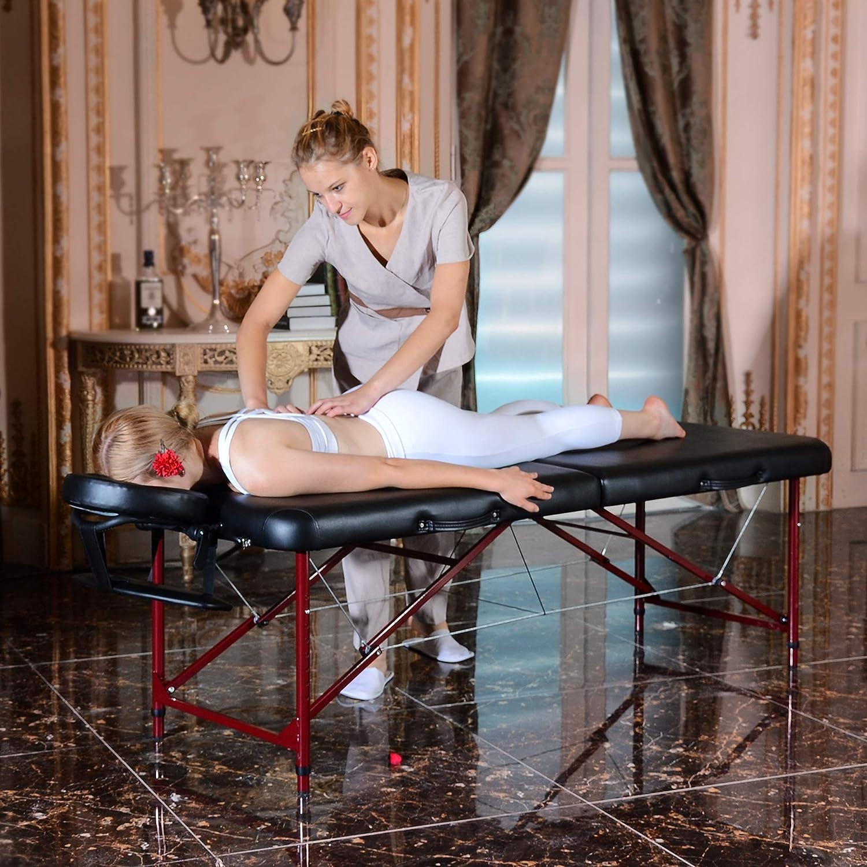 Master Massage Zephyr Lightweight Portable Massage Table Package, Black
