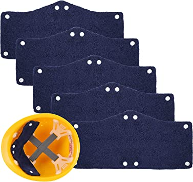 5 Pieces Hard Hat Sweatband Washable Hard Hat Liners Terrycloth Sweatband with