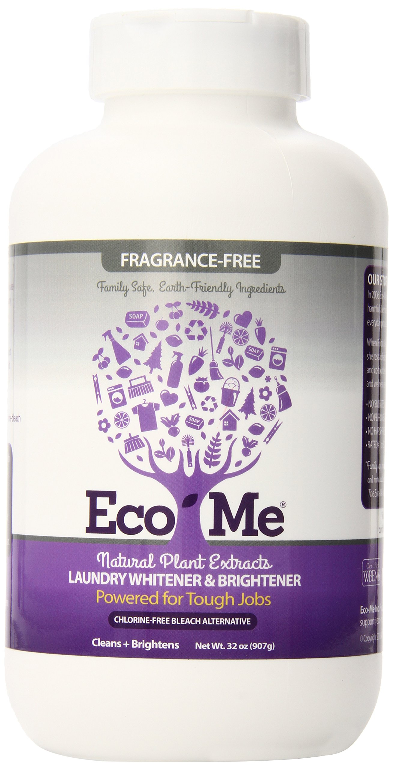 Eco-Me Natural Laundry Whitener Brightener, Fragrance-free, 32 Ounce
