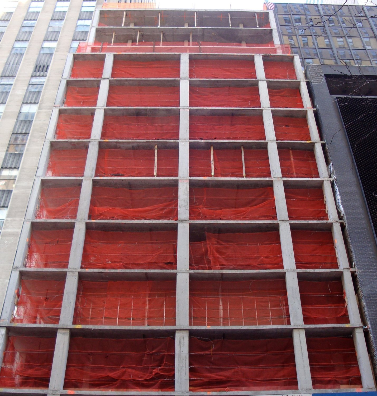 RK Heavy Duty 4-ft x 150-ft Fire Retardant Vertical Safety Netting, High Visibility Orange