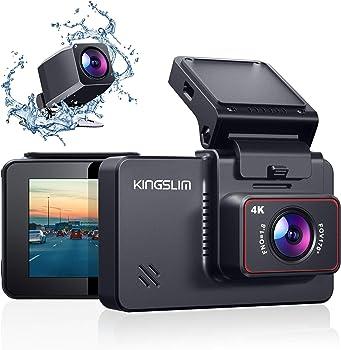 Kingslim 4K Dual Dash Cam Sony Starvis Sensor