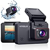 "Kingslim D4 4K Dual Dash Cam with Built-in Wi-Fi GPS, Front 4K/2.5K Rear 1080P Dual Dash Camera for Cars , 3"" IPS…"