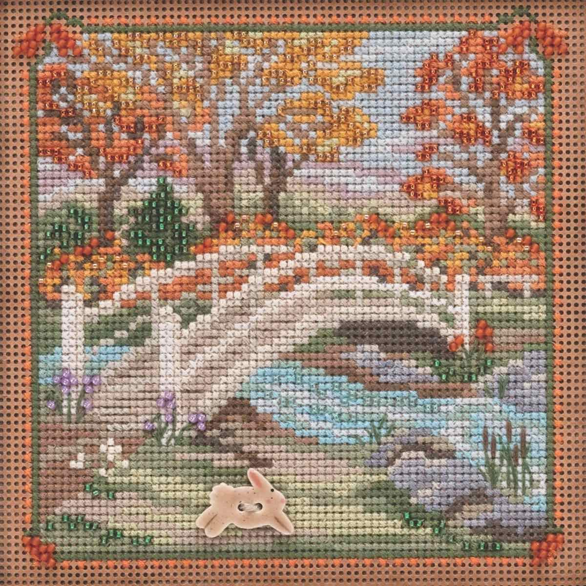 MILL HILL BUTTONS /& BEADS SPRING Series Cross Stitch Kit SUGAR COOKIE HOUSE