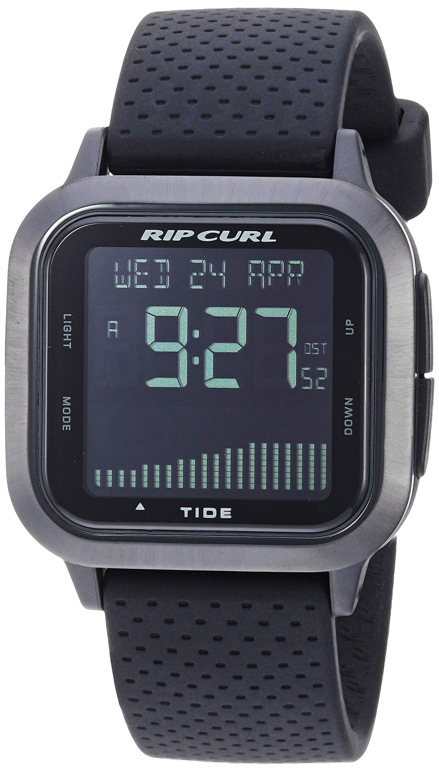 Rip Curl Men's Quartz Sport Watch with Silicone Strap, Black, 21.9 (Model: A1137MID1SZ)