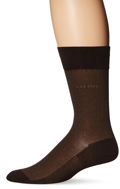 HUGO BOSS Men's Dave Herringbone Crew Sock Black 7-13/Shoe Size 6-12 HUGO BOSS Men's Socks 50289897