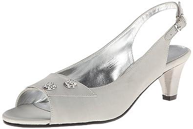 90cdfbfc21fa80 David Tate Women s Party Silver Sandal 4 M ...