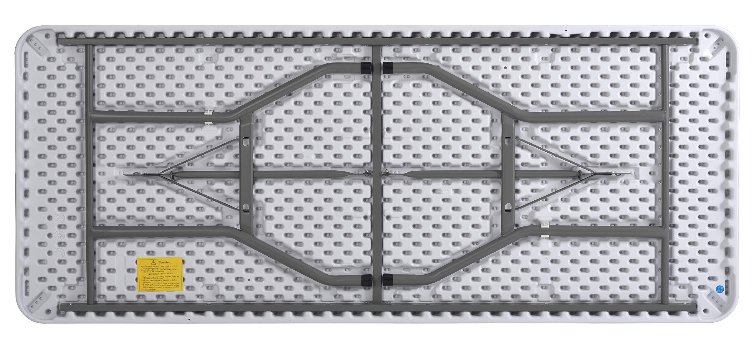 Sandusky Lee FPT7230-WV2 Commercial Fold in Half Utility Table, 6', White, 29'' Height, 72'' Width, 30'' Length by Sandusky