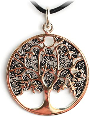 ECHT etNox by Lebensbaum Anhänger Bronzeversilbert