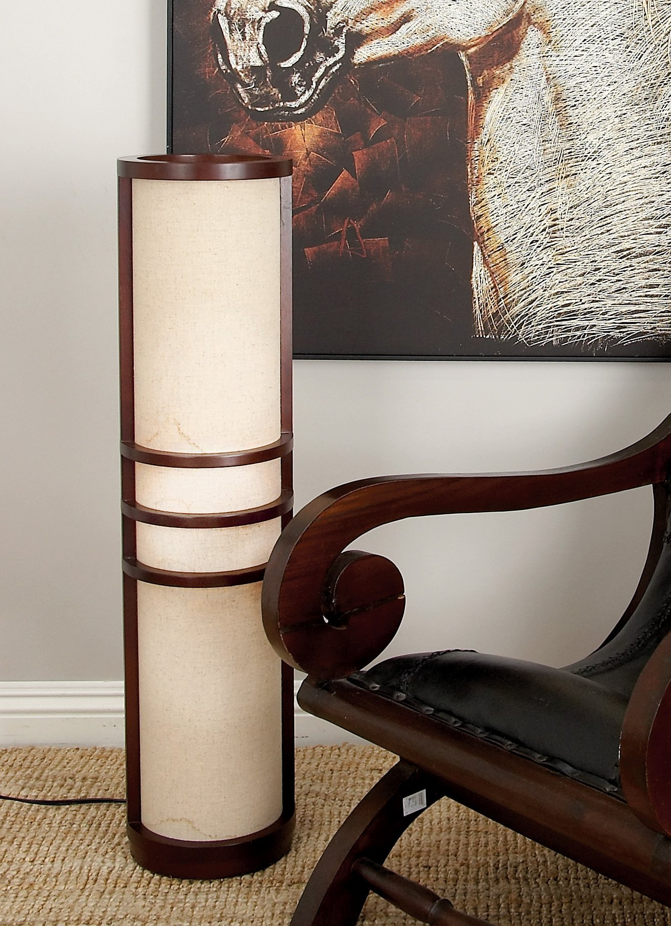 Deco 79 Wood Floor Lamp Made of Brown Wood by Deco 79 (Image #3)