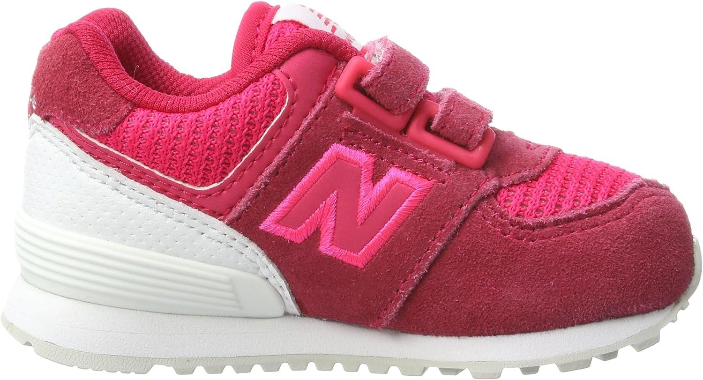 New Balance Unisex-Kinder 574 Sneaker Pink (Pink/White)