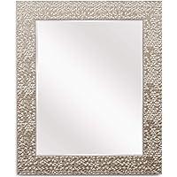 Wall Beveled Mirror Framed Bedroom or Bathroom Rectangular Hangs