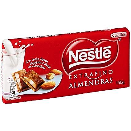 Nestlé Extrafino Tableta de Chocolate con Leche y Almendras - 150 g