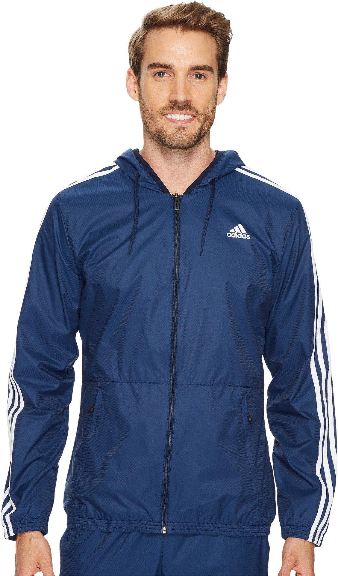 adidas Men's Essentials Wind Jacket, Collegiate Navy/Collegiate Navy/White, Medium