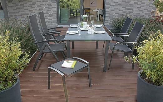 Salon de jardin Boston Aluminium de jardin fauteuils: Amazon ...