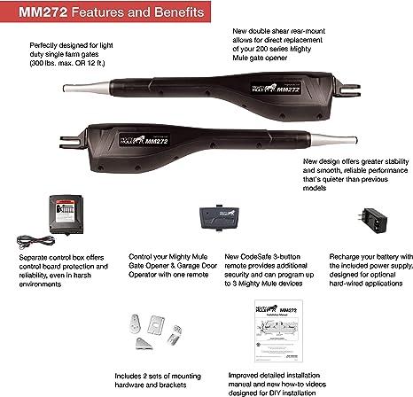 Mighty Mule MM272 Light Duty Dual Gate Opener