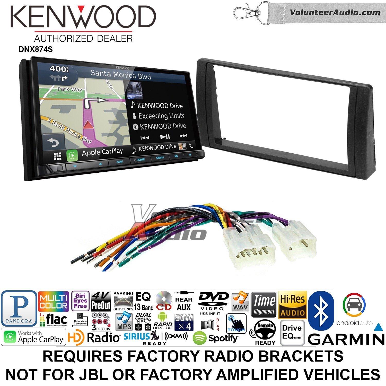 ボランティアオーディオKenwood dnx874sダブルDINラジオインストールキットwith GPSナビゲーションApple CarPlay Android自動Fits 2002 – 2006 Non Amplified Toyota Camry B07BZ4Y3WY