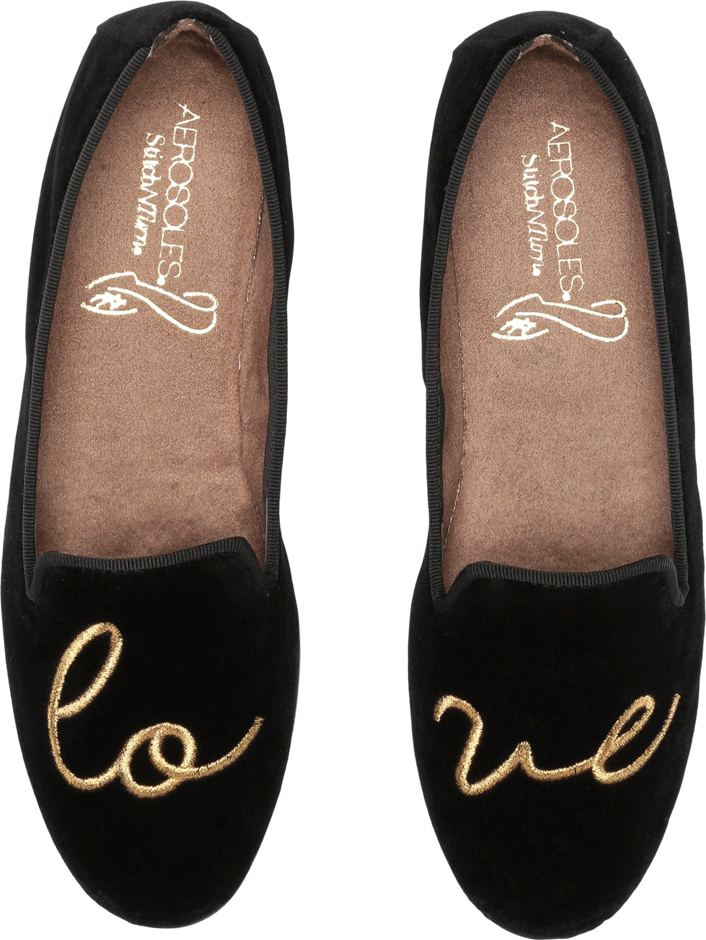 Aerosoles Women's Betunia Loafer, Black Velvet Love, 7 W US