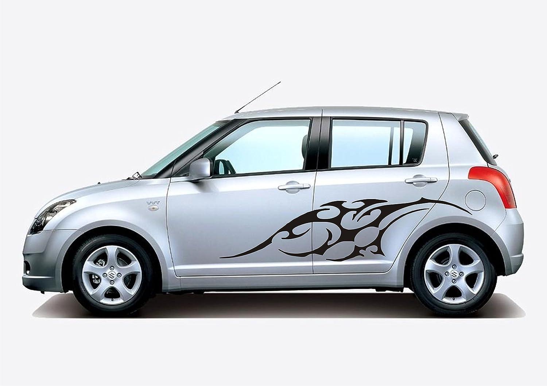 Vicky Decor Car Side Sticker CRS Black Full Body Sticker Glossy - Car sticker design