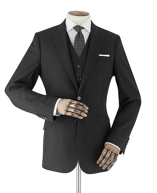 Savile Row Company - Chaqueta de Traje - para Hombre Negro ...