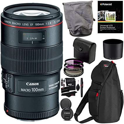 Amazon com : Canon EF 100mm f/2 8L is USM Macro Lens for