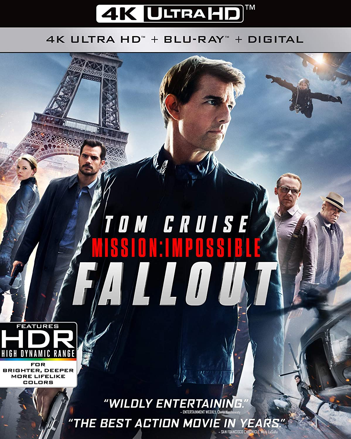 Amazon Com Mission Impossible Fallout Blu Ray Tom Cruise Rebecca Ferguson Vanessa Kirby Henry Cavill Michelle Monaghan Simon Pegg Christopher Mcquarrie Movies Tv