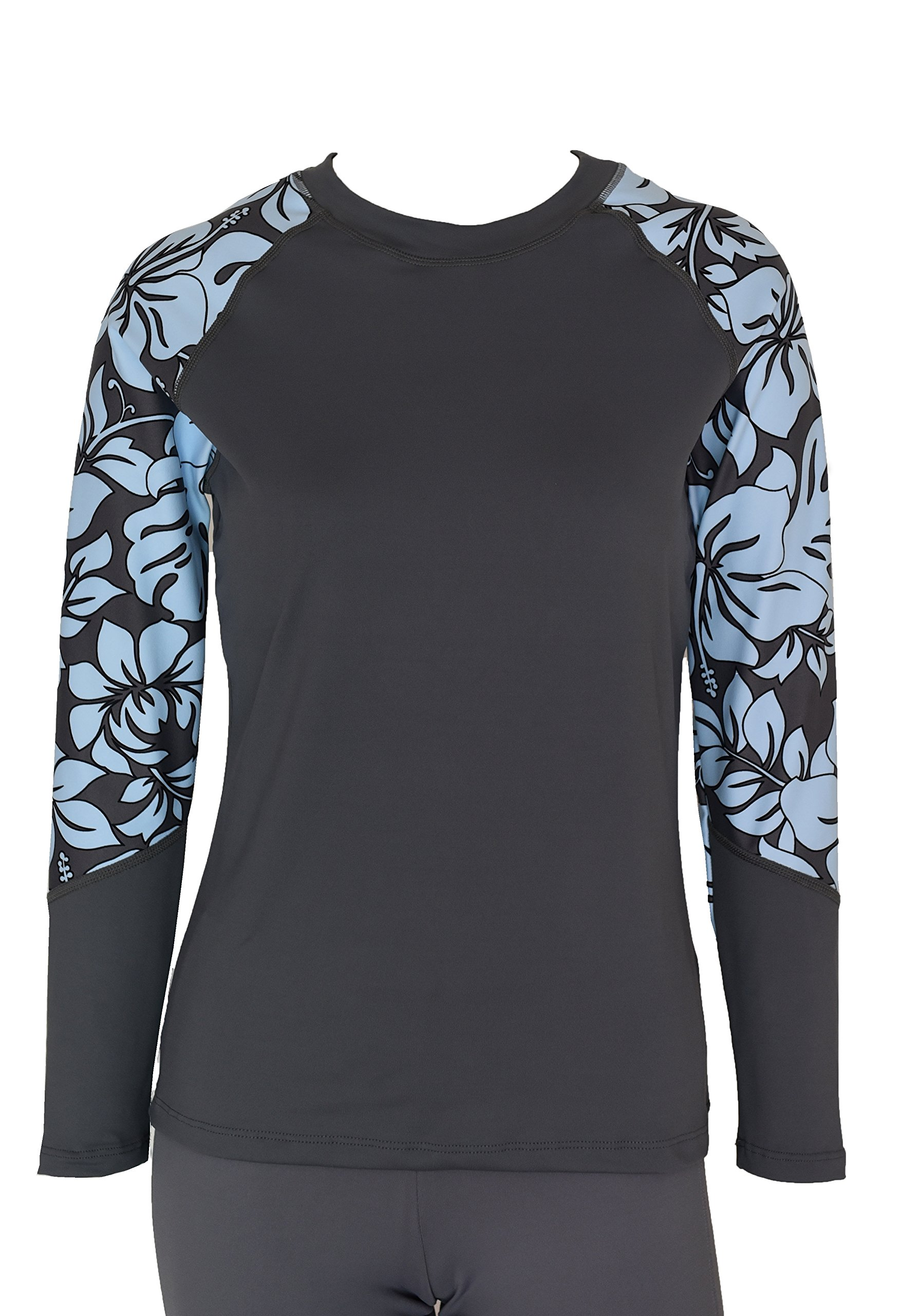 Private Island Hawaii UV Women Rash Guard Swim Yoga Active Workout Long Sleeve (L, GwB-RSRGT) by Private Island