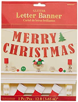 Amscan International – 210279 3,65 M Feliz Navidad Carta Banner