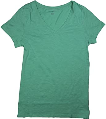 efe88b76 Image Unavailable. Image not available for. Color: Tommy Hilfiger Women's  Slub V-Neck ...