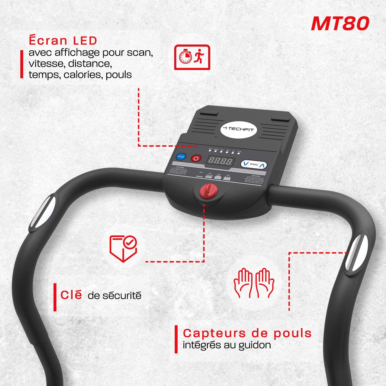 TechFit MT80 Cinta de Correr Eléctrica Plegable 1.0 HP, Máquina de ...