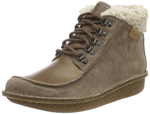 Clarks Funny-Girl - Botines para mujer, Marrón (Pebble Combi Suede), 36 EU: Amazon.es: Zapatos y complementos