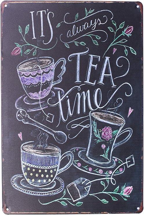 Metal Tin Sign tea for all reasons Bar Pub Vintage Retro Poster Cafe ART