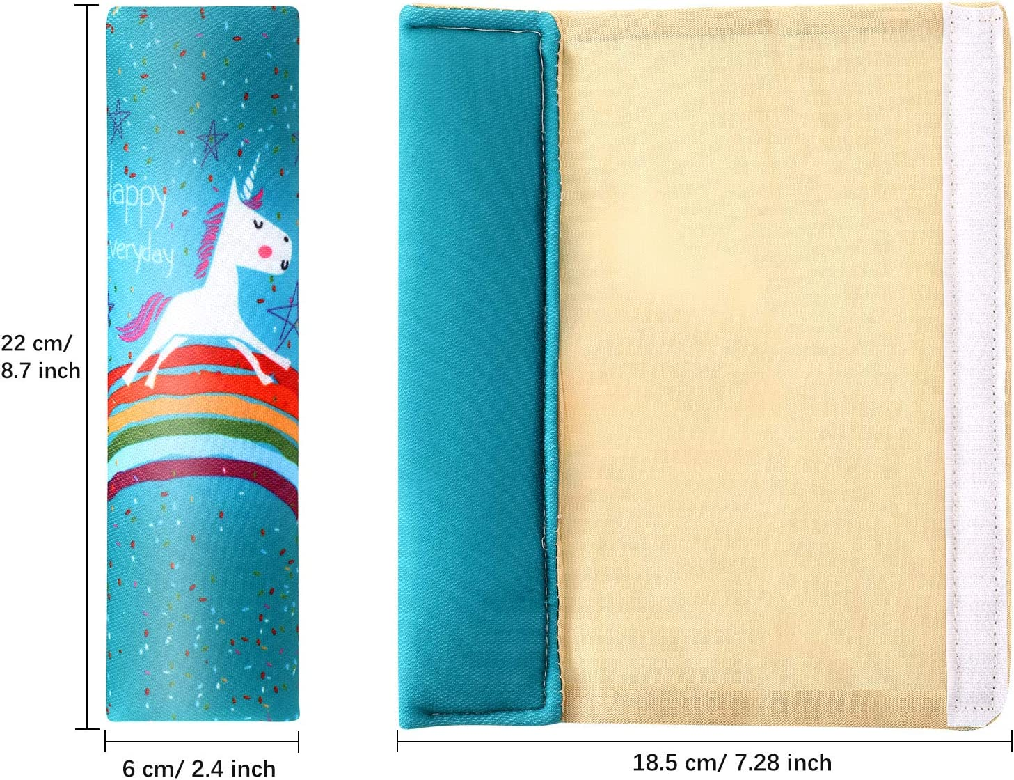 Blue 4 Pieces Unicorn Auto Car Seat Belt Pads Seatbelt Protector Cotton Soft Comfort Seat Belt Shoulder Strap Cushion Pillow Helps Protect Your Neck and Shoulder