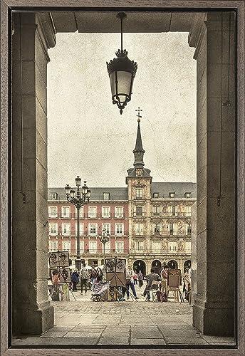 Cuadro enmarcado - Cuadro de la Plaza Mayor de Madrid - Fotografía ...