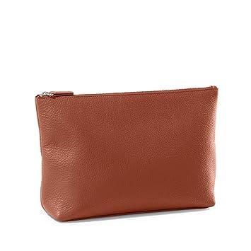 2cea210a Amazon.com: Large Accessories Pouch - Full Grain Leather ...