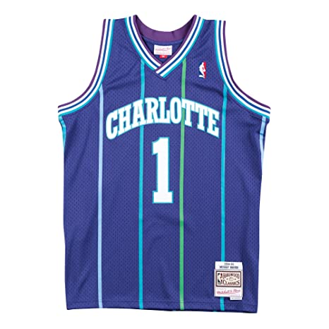 85deffdce Amazon.com   Mitchell   Ness Muggsy Bogues NBA 1994-95 Charlotte ...