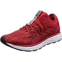 PUMA Men's Speed Fusefit Ribbon Red-blk Shoes, Ribbon Red Black