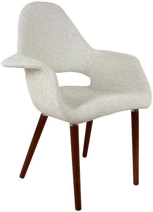 Amazon.com: Organic tapizado Brazo Silla, color beige, Lana ...