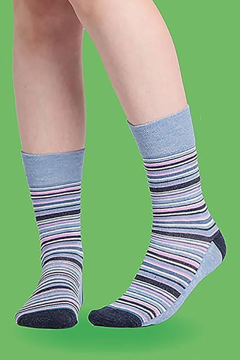 Gentle Grip - 6 pares mujer fantasia bambu calcetines sin elasticos para la circulacion (37-42 eur, SOLRM31): Amazon.es: Ropa y accesorios