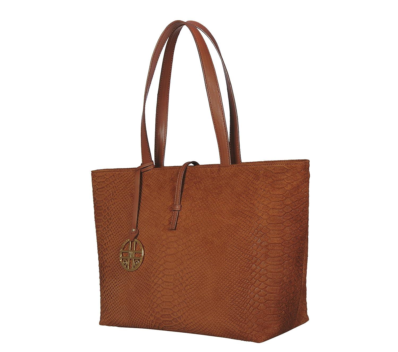 395c29d3d3f6 SILVIO TOSSI Damen Henkeltasche, braun  Amazon.de  Schuhe   Handtaschen