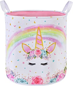 Unicorn Laundry Hamper - Collapsible Fabric Storage Bins Laundry Storage Basket for Kids Baby Gift Baskets Toys Clothes Shoes Bedroom Home Organizer Nursery Hampers