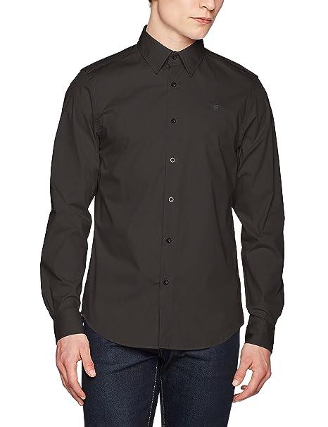 91170a4d333 G-STAR RAW Men s Core Super Slim Shirt L s Sweatshirt  Amazon.co.uk ...