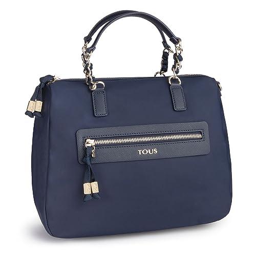 2930268c8 Tous Efim Brunock Chain, Bolso de Mano para Mujer, Azul (Marino 595810119),  28x20x13 cm (W x H x L): Amazon.es: Zapatos y complementos