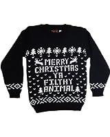 Childrens Kids Christmas Jumper Girls Boys Retro Winter Sweater