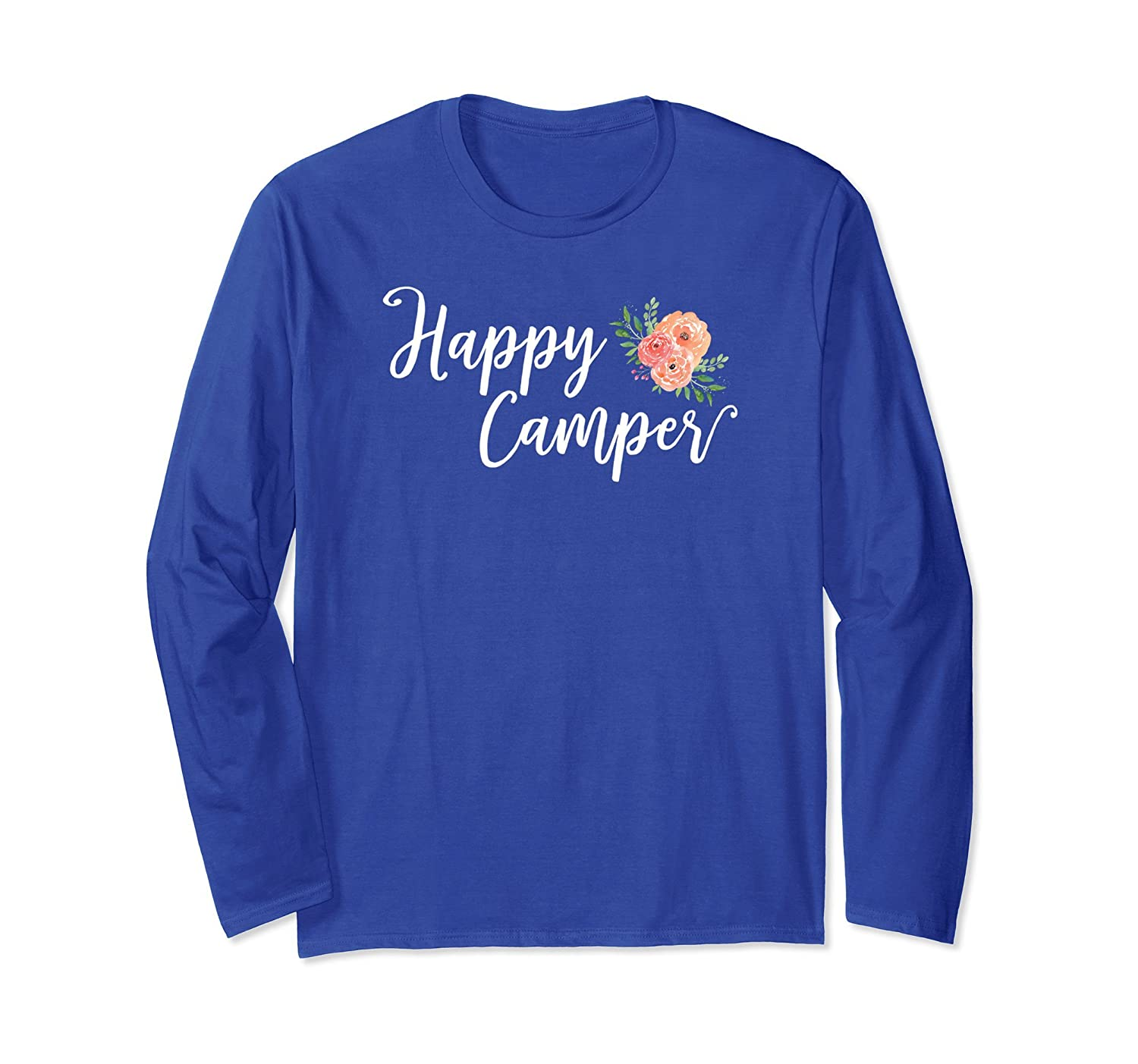 Adorable Floral Happy Camper Vacation Shirt For Adventurers-alottee gift