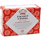 Nubian Heritage Coconut & Papaya Soap 5 Oz X 6 Bars